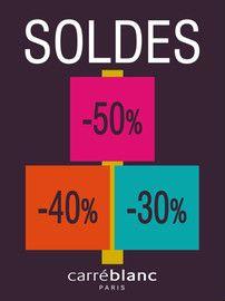 Catalogue Carré Blanc en cours, Les Soldes, Page 1