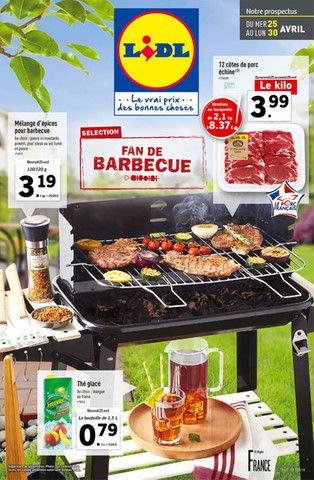 Catalogue Lidl en cours, Fan de barbecue, Page 1
